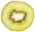 Slice of fresh juicy kiwi fruit isolated on white background Stock Images