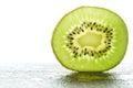 Slice of fresh kiwi fruit Royalty Free Stock Photo