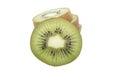 Slice of fresh kiwi fruit isolated on white Stock Image