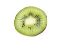 Slice of fresh kiwi fruit isolated on white Royalty Free Stock Photo