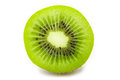 Slice of fresh kiwi fruit isolated on white background Royalty Free Stock Photo