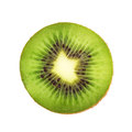 Slice of fresh kiwi fruit on white background Stock Images