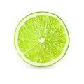 Slice of fresh lime on white background Royalty Free Stock Photo