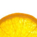 Slice of fresh Orange / Super Macro / Back lit Stock Images