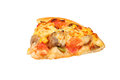 Slice of fresh pizza with pepperoni Royalty Free Stock Photo