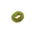 Slice of fresh sweet kiwi fruit isolated on white background Royalty Free Stock Photo
