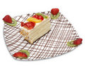 Slice of Fruite Cake Royalty Free Stock Photography