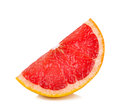 Slice of Grapefruit isolated on the white background Royalty Free Stock Photo