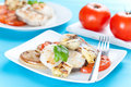 Slice of hake grilled Royalty Free Stock Images