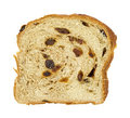 Slice of home made raisin bread Royalty Free Stock Image