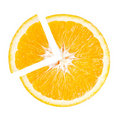 Slice of Juicy Orange in the shape pie chart Stock Photography