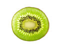 Slice kiwi fruit isolated on a white background
