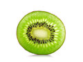 Slice kiwi fruit isolated on a white background Royalty Free Stock Photo