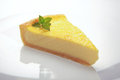 Slice of lemon cheese cake Royalty Free Stock Photo