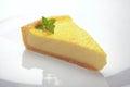 Slice of lemon cheese cake Royalty Free Stock Photo