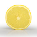 Slice of lemon isolated on white background a Stock Image