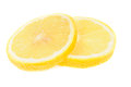 Slice of lemon on white Royalty Free Stock Photo