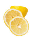 Slice of lemons on a white Royalty Free Stock Photos