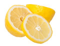 Slice of lemons on a white Stock Images