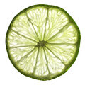 Slice of lime a on illuminated white background Stock Images
