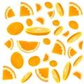 Slice of an orange Royalty Free Stock Photo