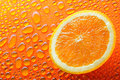 Slice of orange Royalty Free Stock Photos