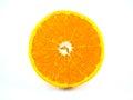 Slice of orange fruit isolated fresh and juicy Stock Photos