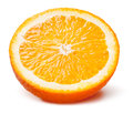 Slice of orange fruit isolated on white background Royalty Free Stock Photography