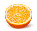 Slice of orange isolated on white background Stock Images