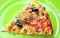 Slice of pizza Royalty Free Stock Images