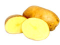 Slice potato over white backgroud Royalty Free Stock Image