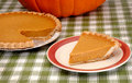 Slice of pumpkin pie Stock Photography