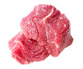 Slice raw beef meat fresh isolated on a white background Royalty Free Stock Image