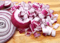 Slice red onion Royalty Free Stock Photo