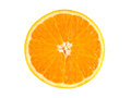 Slice of ripe orange isolated on white background fresh diet citrus fruit health healthy fruit with vitamins Royalty Free Stock Photo