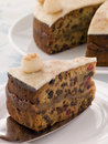 Slice of Simnel Cake Stock Image