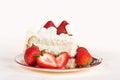 Slice of strawberry cake Royalty Free Stock Photo