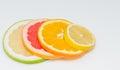 Slice of Sweety ,Pink Grapefruit, Orange and Lemon Royalty Free Stock Photo