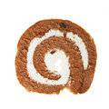 Slice of swiss roll Stock Photo