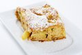 Slice of tasty homemade apples pie Royalty Free Stock Images