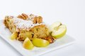 Slice of tasty homemade apples pie Royalty Free Stock Photo