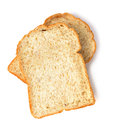 Slice of the toast bread isolated on white background Royalty Free Stock Photo