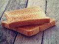 Slice toast bread retro vintage style Royalty Free Stock Image