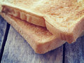 Slice toast bread retro vintage style Royalty Free Stock Photography