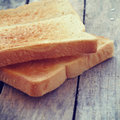 Slice toast bread retro vintage style with filter effect Royalty Free Stock Image