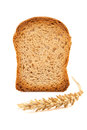 Slice of toast and ear wheat Stock Photo