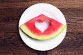 Slice of watermelon Royalty Free Stock Photo