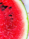 Slice of watermelon juicy red. Royalty Free Stock Photo