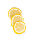 Sliced ​​rings yellow lemon Royalty Free Stock Photo