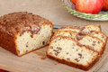 Sliced Apple Nut Bread Stock Photos